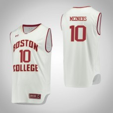 Boston College Eagles #10 Ervins Meznieks White College Basketball Jersey