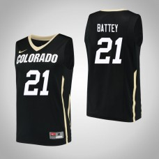 Colorado Buffaloes #21 Evan Battey Black College Basketball Jersey