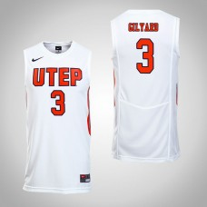 UTEP Miners #3 Evan Gilyard White College Basketball Jersey