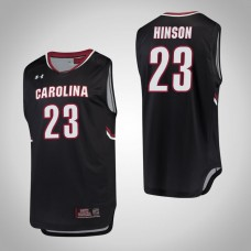 South Carolina Gamecocks #23 Evan Hinson Black College Basketball Jersey