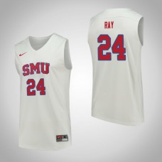 SMU Mustangs #24 Everett Ray White College Basketball Jersey