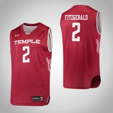 Temple Owls #2 Feyonda Fitzgerald Red College Basketball Jersey