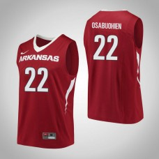 Arkansas Razorbacks #22 Gabe Osabuohien Red College Basketball Jersey
