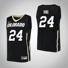 Colorado Buffaloes #24 George King Black College Basketball Jersey