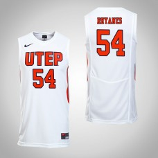 UTEP Miners #54 Isaiah Rhyanes White College Basketball Jersey
