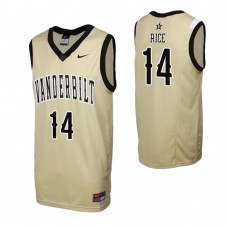 Vanderbilt Commodores #14 Isaiah Rice Gold College Basketball Jersey