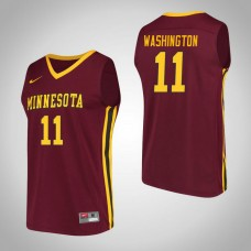 Minnesota Golden Gophers #11 Isaiah Washington Maroon College Basketball Jersey