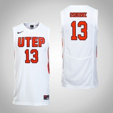 UTEP Miners #13 Isiah Osborne White College Basketball Jersey
