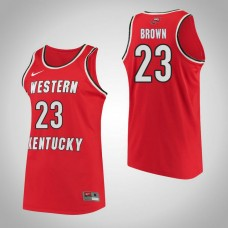Western Kentucky #23 Ivy Brown Red College Basketball Jersey