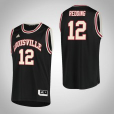 Louisville Cardinals #12 Jacob Redding Black College Basketball Jersey