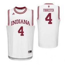 Indiana Hoosiers #4 Jake Forrester White College Basketball Jersey