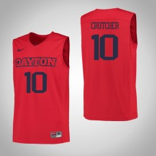 Dayton Flyers #10 Jalen Crutcher Red College Basketball Jersey