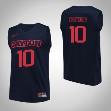 Dayton Flyers #10 Jalen Crutcher Navy College Basketball Jersey