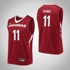 Arkansas Razorbacks #11 Jalen Harris Red College Basketball Jersey