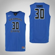 Georgia State Panthers #30 Jeff Thomas Blue College Basketball Jersey