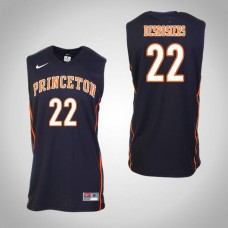 Princeton Tigers #22 Jerome Desrosiers Black College Basketball Jersey