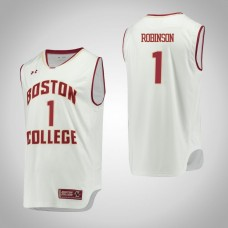Boston College Eagles #1 Jerome Robinson White College Basketball Jersey