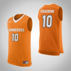 Tennessee Volunteers #10 John Fulkerson Orange College Basketball Jersey