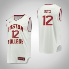 Boston College Eagles #12 Johncarlos Reyes White College Basketball Jersey