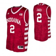 Indiana Hoosiers #2 Johnny Jager Crimson College Basketball Jersey