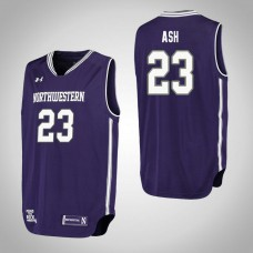 Northwestern Wildcats #23 Jordan Ash Purple College Basketball Jersey
