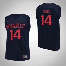 Dayton Flyers #14 Jordan Pierce Navy College Basketball Jersey