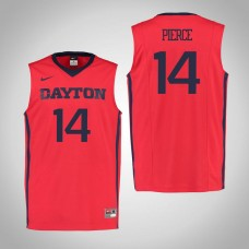Dayton Flyers #14 Jordan Pierce Red College Basketball Jersey