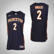 Princeton Tigers #2 Jose Morales Black College Basketball Jersey