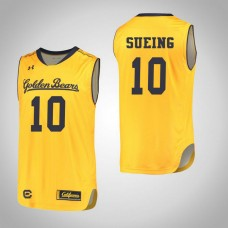 California Golden Bears #10 Justice Sueing Gold College Basketball Jersey