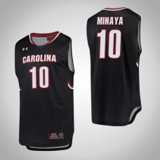 South Carolina Gamecocks #10 Justin Minaya Black College Basketball Jersey