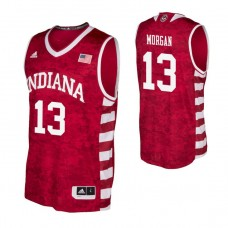 Indiana Hoosiers #13 Juwan Morgan Crimson College Basketball Jersey