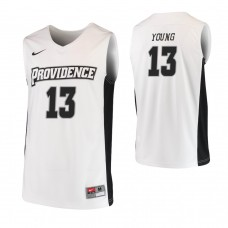 Providence Friars #13 Kalif Young Replica White Jersey