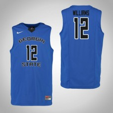 Georgia State Panthers #12 Kane Williams Blue College Basketball Jersey