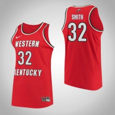 Western Kentucky #32 Kayla Smith Red College Basketball Jersey