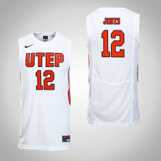 UTEP Miners #12 Kelvin Jones White College Basketball Jersey