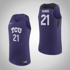 TCU Horned Frogs #21 Kevin Samuel Purple College Basketball Jersey