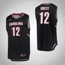 South Carolina Gamecocks #12 Khadim Gueye Black College Basketball Jersey