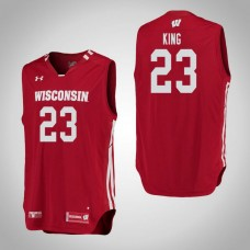 Wisconsin Badgers #23 Kobe King Red College Basketball Jersey