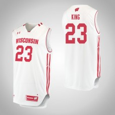 Wisconsin Badgers #23 Kobe King White College Basketball Jersey