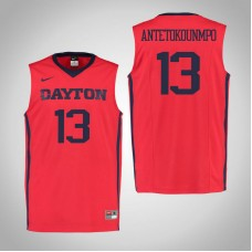Dayton Flyers #13 Kostas Antetokounmpo Red College Basketball Jersey