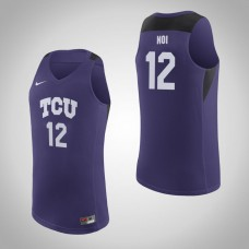 TCU Horned Frogs #12 Kouat Noi Purple College Basketball Jersey