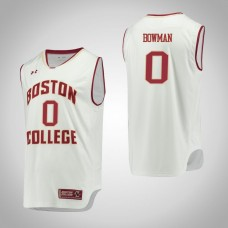 Boston College Eagles #0 Ky Bowman White College Basketball Jersey