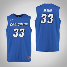 Creighton Bluejays #33 Kylie Brown Royal College Basketball Jersey