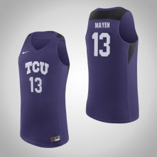 TCU Horned Frogs #13 Lat Mayen Purple College Basketball Jersey