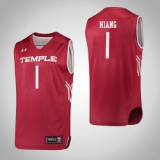 Temple Owls #1 Lena Niang Red College Basketball Jersey