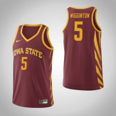 Iowa State Cyclones #5 Lindell Wigginton Cardinal College Basketball Jersey