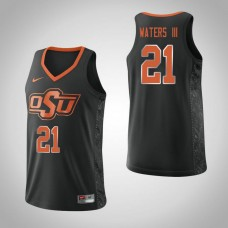 Oklahoma St Cowboys #21 Lindy Waters III Black College Basketball Jersey