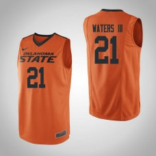 Oklahoma St Cowboys #21 Lindy Waters III Orange College Basketball Jersey
