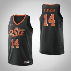 Oklahoma St Cowboys #14 Lucas N'Guessan Black College Basketball Jersey