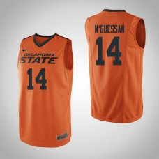 Oklahoma St Cowboys #14 Lucas N'Guessan Orange College Basketball Jersey